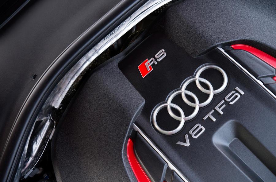 Audi RS7's TFSI engine block
