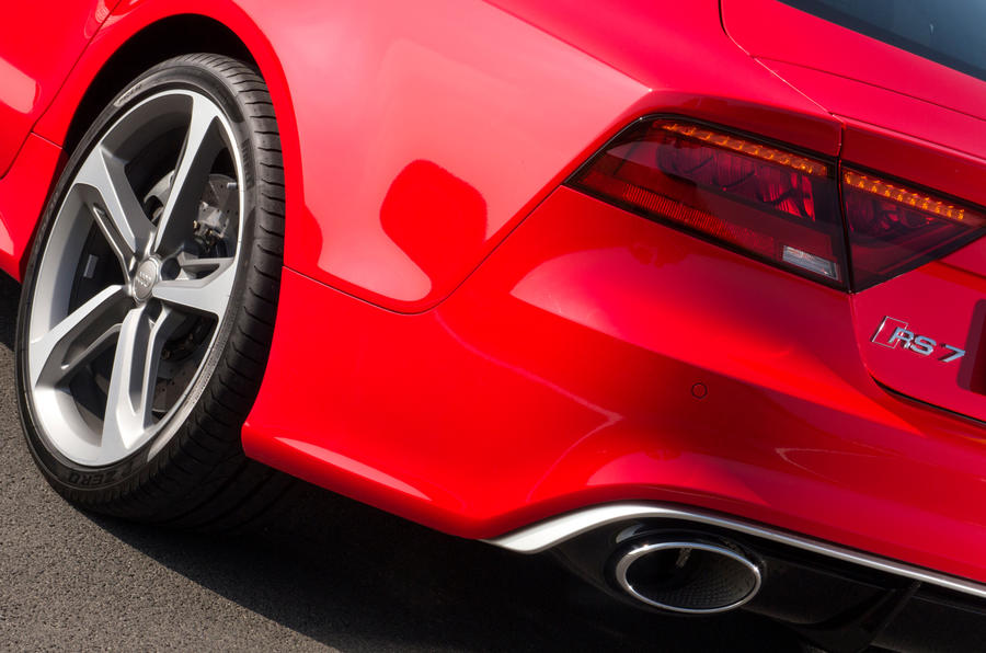 Audi RS7 rear exhaust