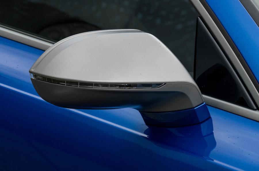 Audi RS7 satin silver wing mirror