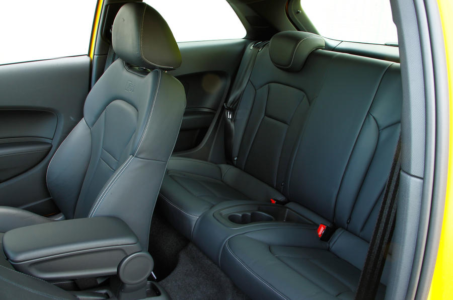 Rear seats in the Audi S1