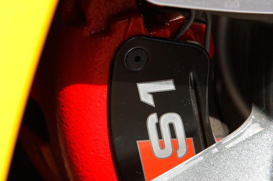 Audi S1's brake calipers