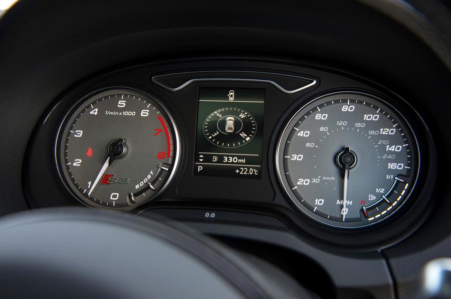 Audi S3 instrument cluster