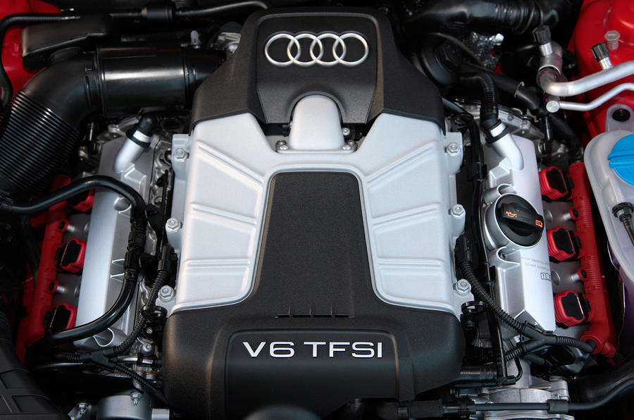 Audi S4's V6 engine block