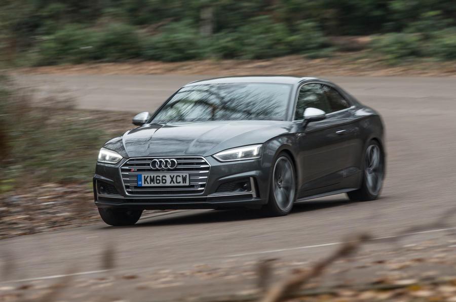 Audi S5 cornering