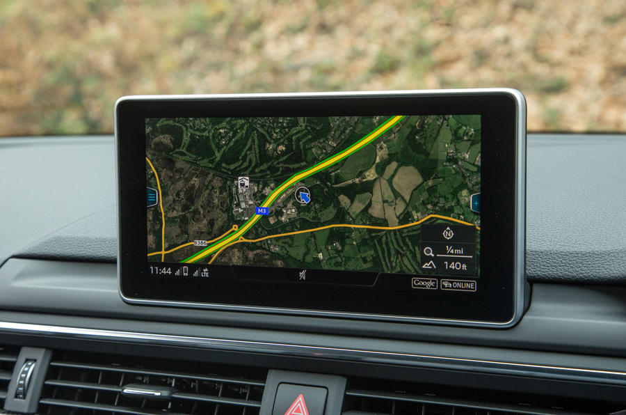 Audi S5 infotainment system