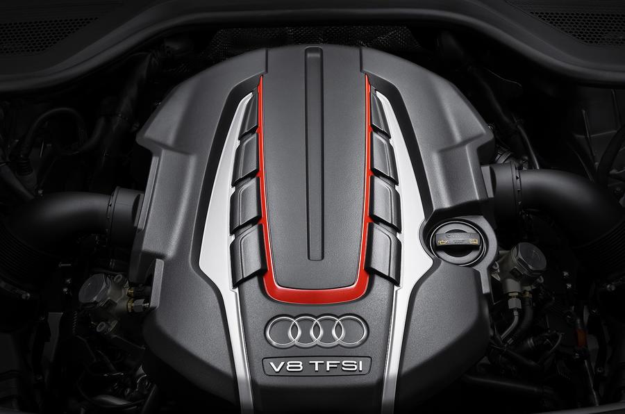 Audi S7's 4.0-litre V8 engine