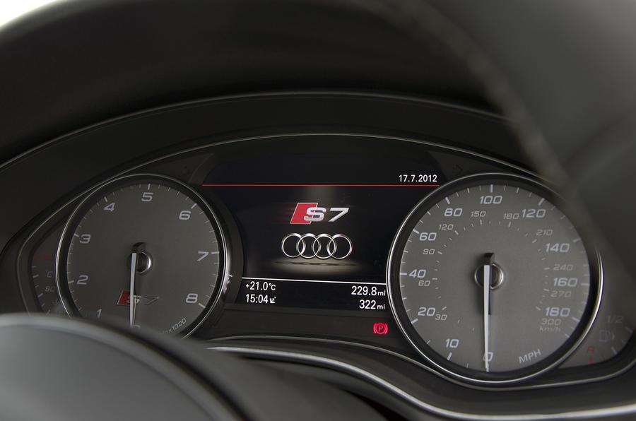 Audi S7 instrument cluster