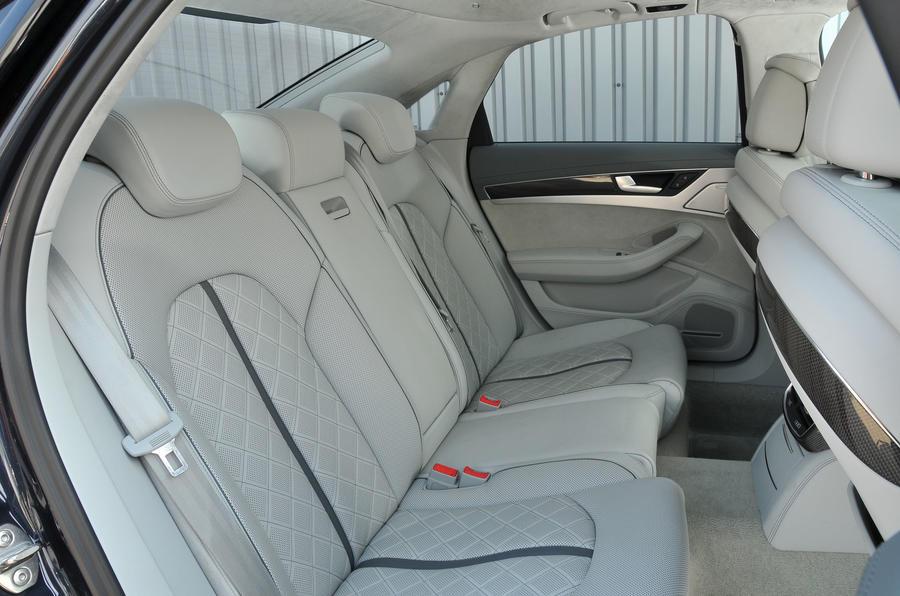 Audi S8 rear seats