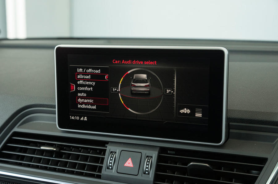 Audi SQ5 dynamic driving options