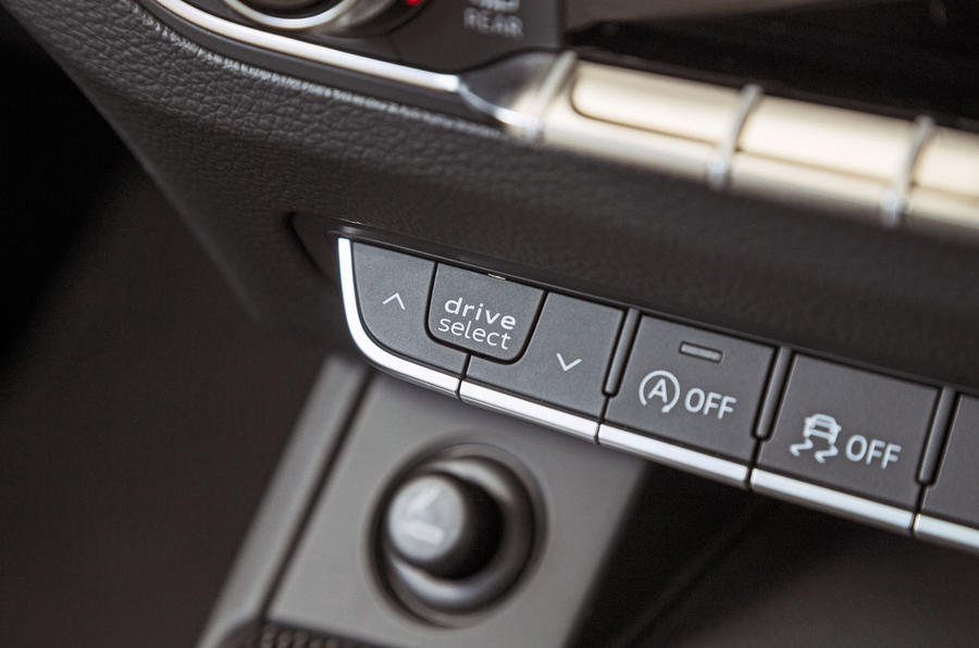 Audi SQ5 dynamic controls