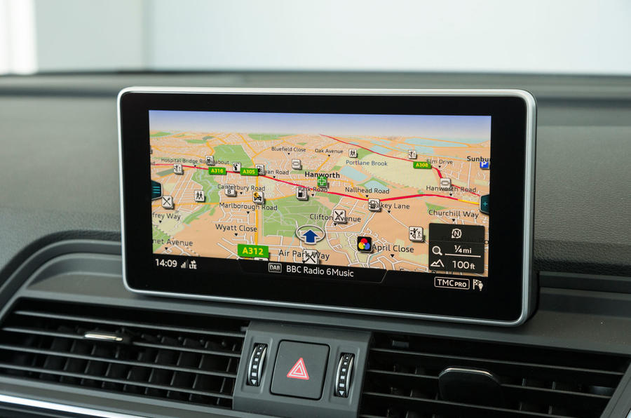 Audi SQ5 MMI infotainment system