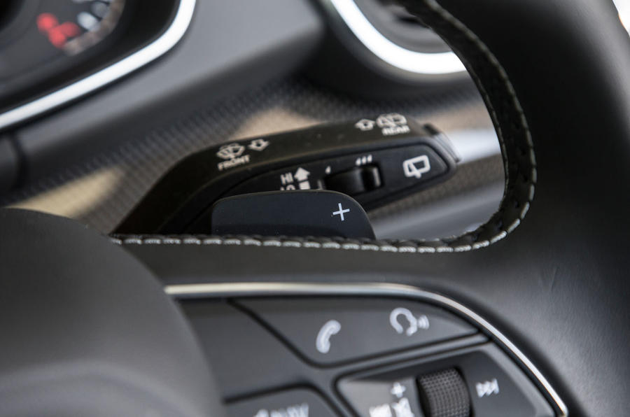 Audi SQ5 paddle shifters