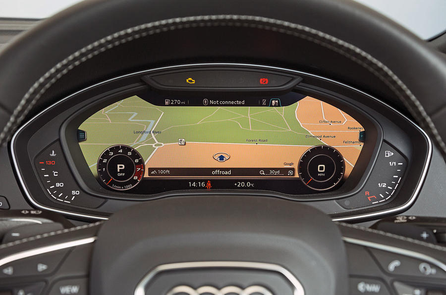 Audi SQ5 virtual cockpit