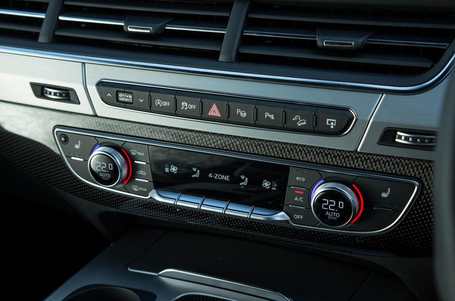 Audi SQ7 climate controls