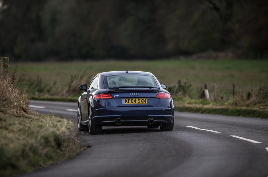 Braking is stable and confident in the Audi TT