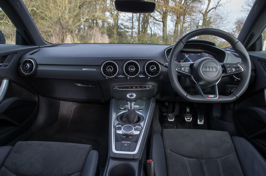 The view from the driver's seat in the Audi TT