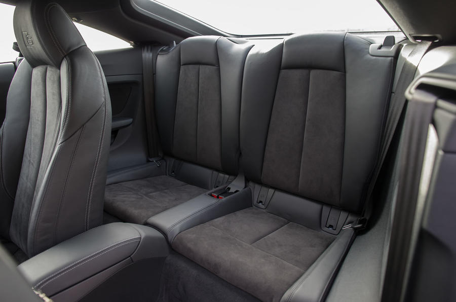 The rear seats in the Audi TT