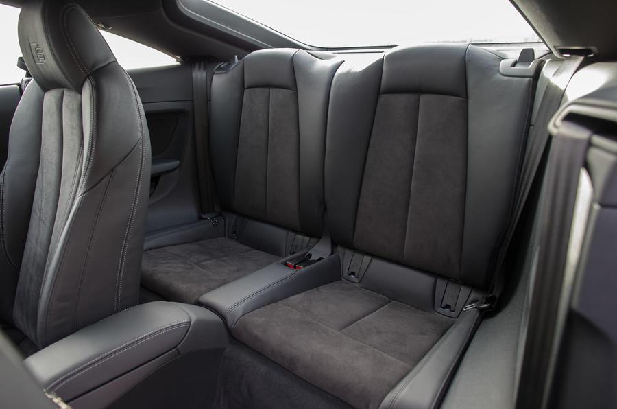 The rear seats in the Audi TT