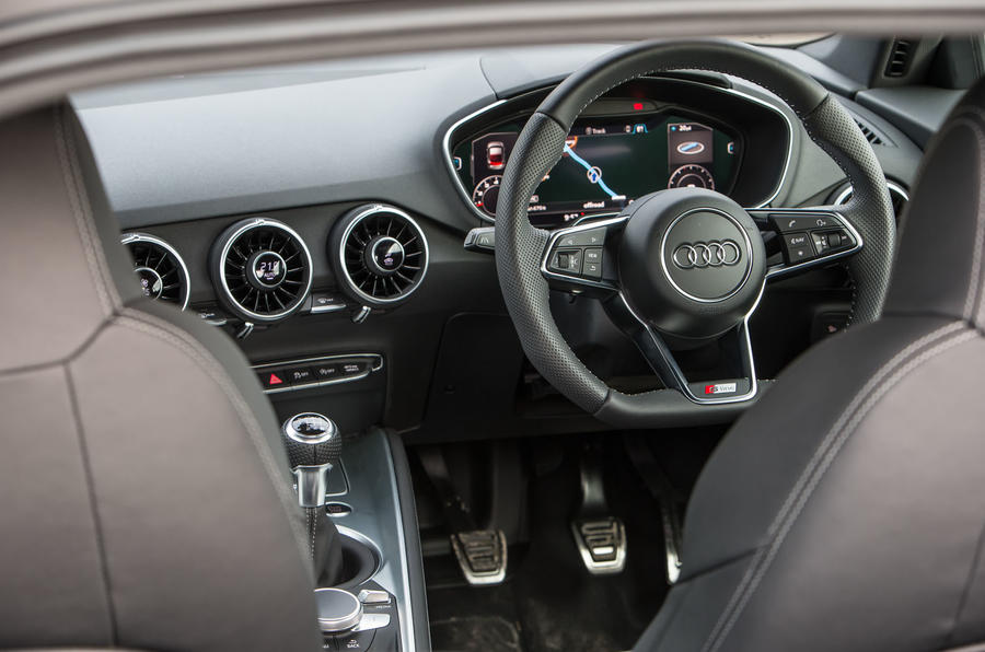 The view from the rear seats on the Audi TT