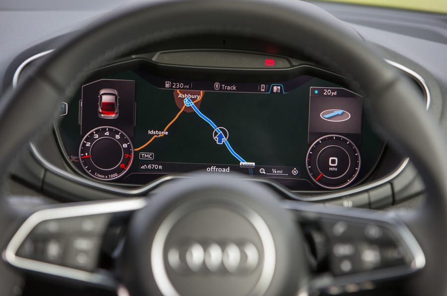 Audi TT's infotainment system close up