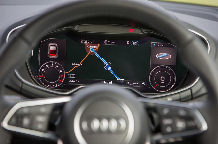 Audi TT's infotainment system close up