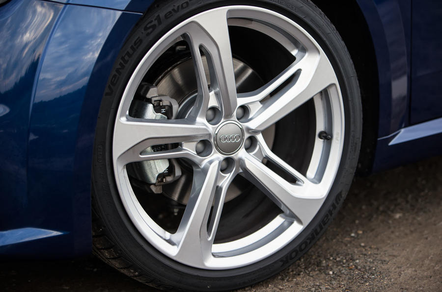 18in alloys are standard on the Audi TT, with 19s available on the S Line