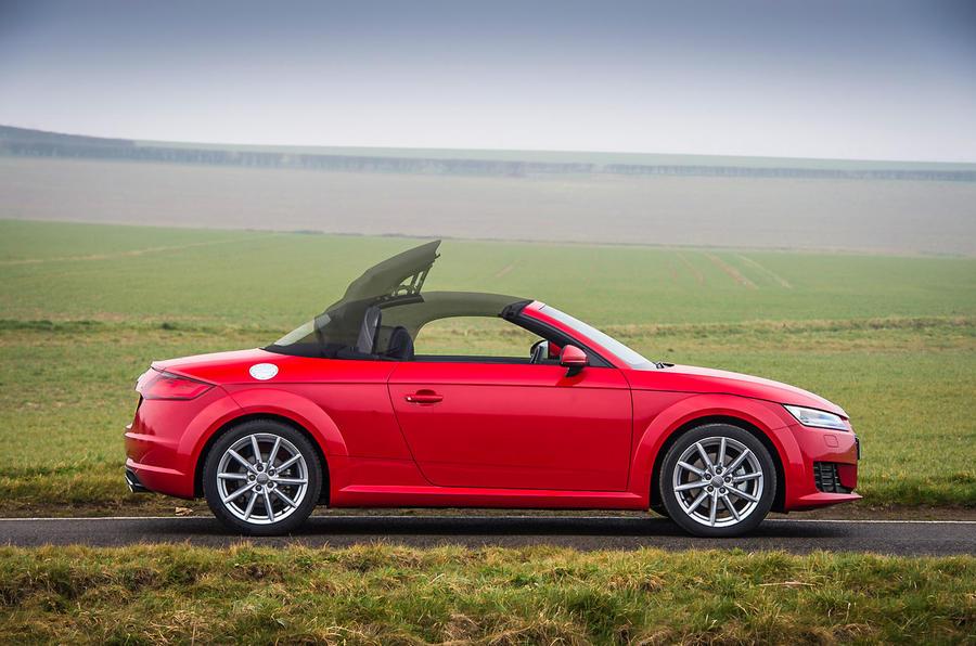 Audi TT Roadster is 90kg heavier
