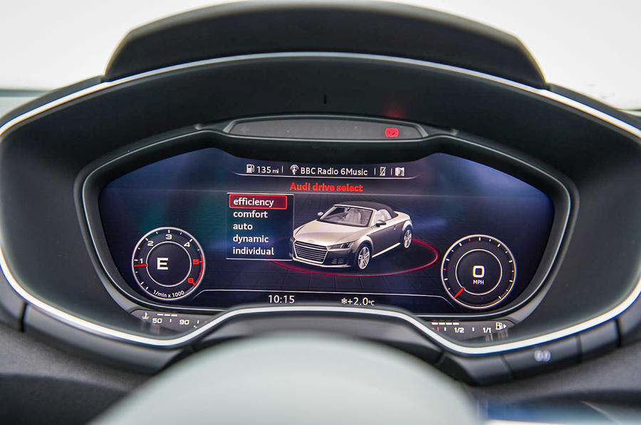 Audi TT Roadster's virtual cockpit
