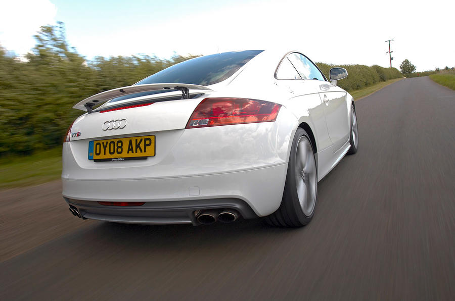 Audi TTS's twin exhaust system