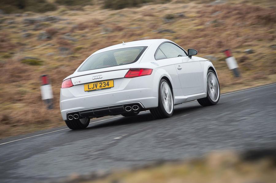 Audi TTS rear cornering