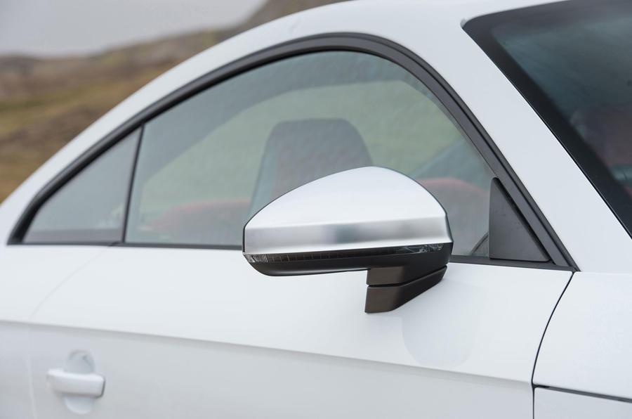 Audi TTS satin silver wing mirrors