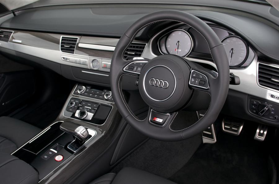 Audi S8's plush interior