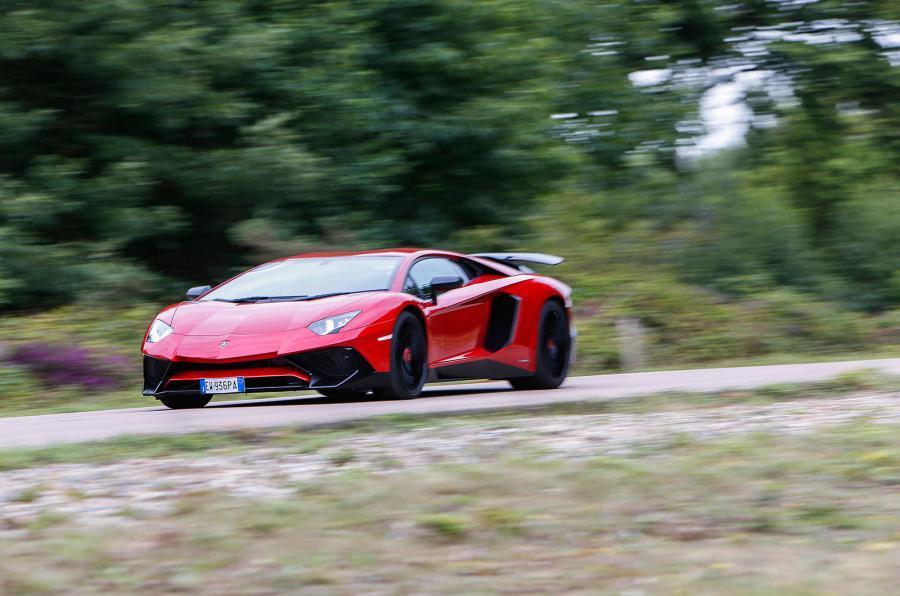 Lamborghini Aventador Superveloce cornering