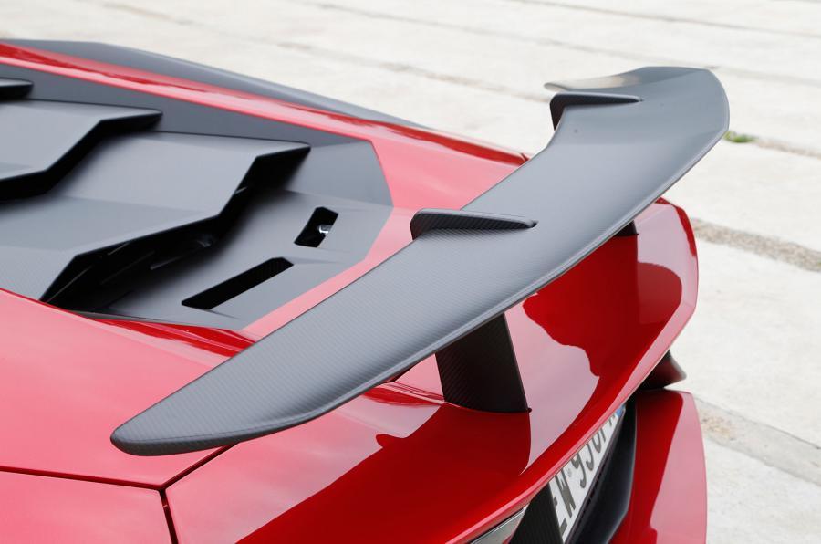 Lamborghini Aventador Superveloce rear wing