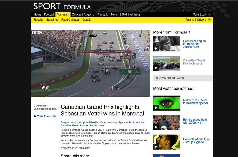 Could the internet transform F1?