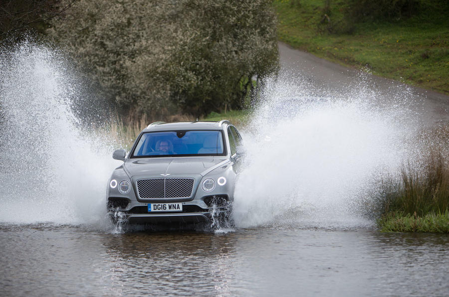 187mph Bentley Bentayga wading