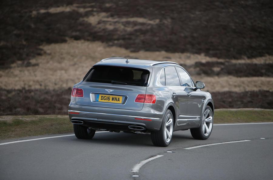 Bentley Bentayga rear cornering