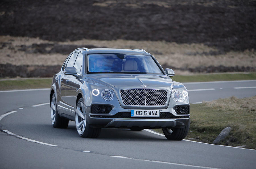 Bentley Bentayga cornering
