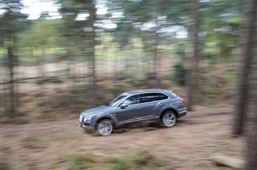 Bentley Bentayga off-roading