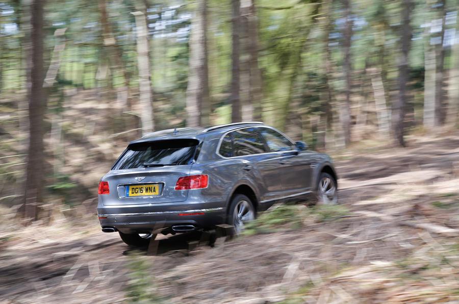 Bentley Bentayga off-roading rear