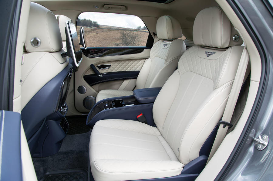 Bentley Bentayga rear seats