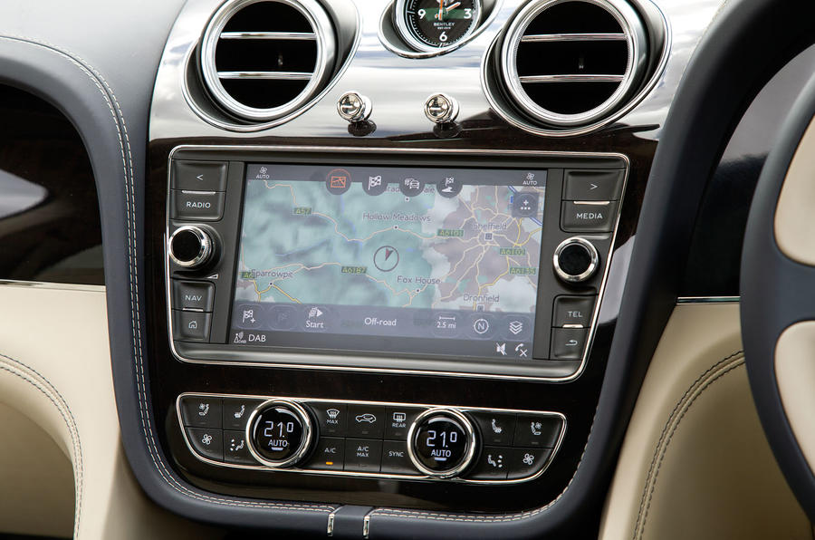 Bentley Bentayga infotainment