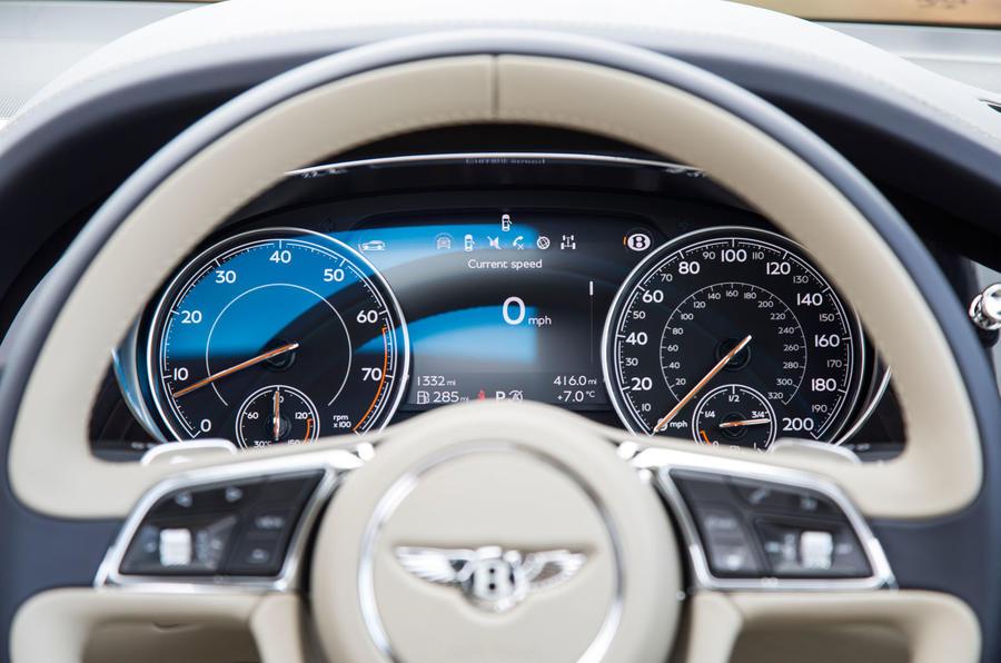 Bentley Bentayga instrument cluster
