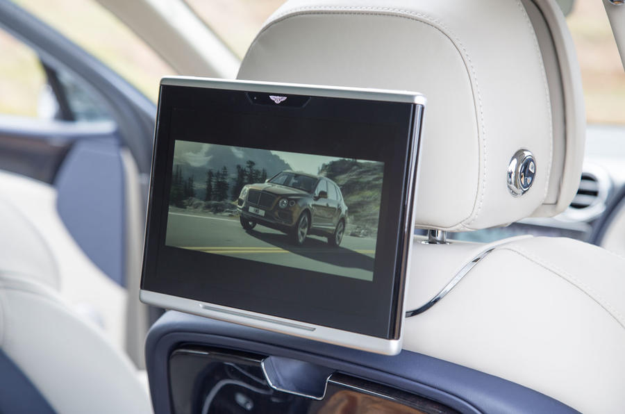 Bentley Bentayga rear TV screens
