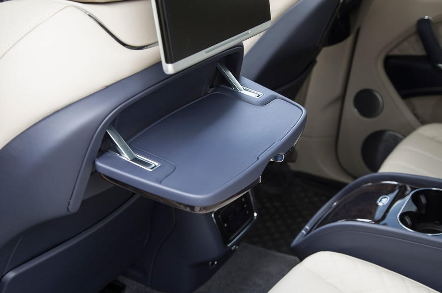 Bentley Bentayga rear tables