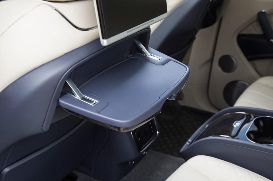 Bentley Bentayga rear tables