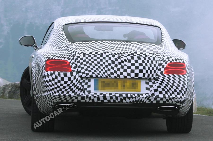 New Bentley Continental GT caught