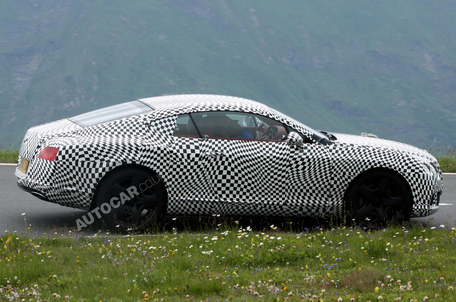 New Bentley Continental GT caught