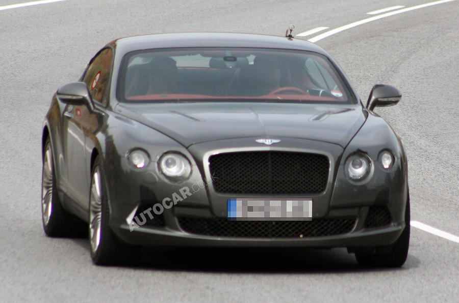 Bentley Conti' GT spied undisguised