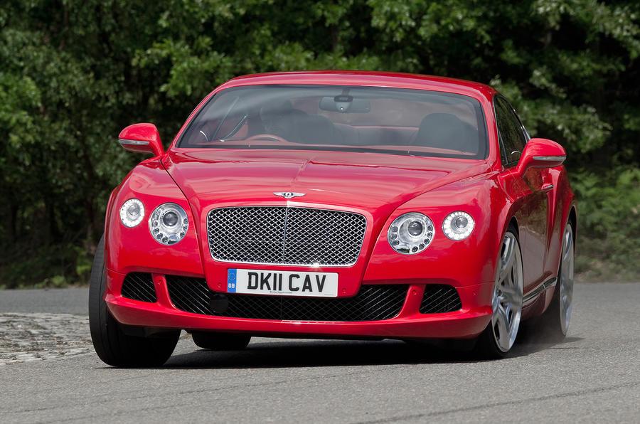 Bentley Continental GT cornering